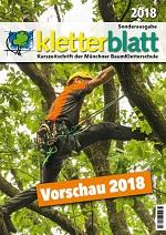 Cover Vorschauflyer Kletterblatt 2018