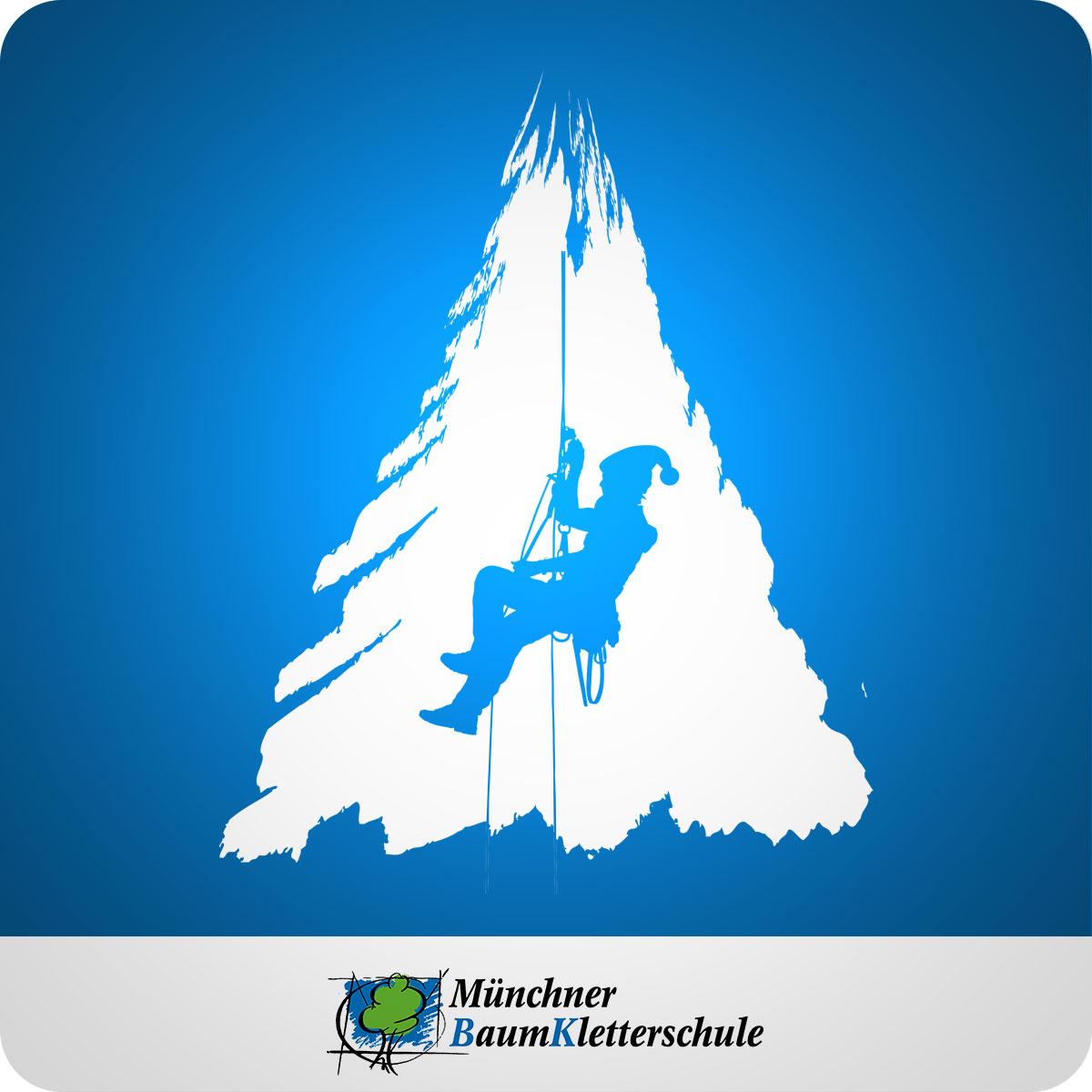 Frohe Weihnachten wünscht die Münchner Baumkletterschule