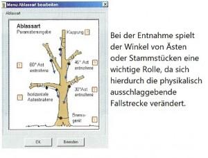 Rigging 1.0: Ablassart, Winkel von Ästen/Stammstücken