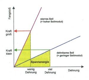 Grafik: Fangstoß - Dehnung