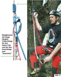 Aufstieg mit Klemmheist-Schlinge