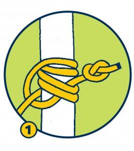 Blake-Knoten mit vier Wicklungen