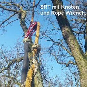 SRT mit Knoten und Rope Wrench.
