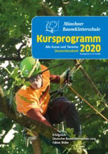 Cover Kursprogramm 2020 der Münchner Baumkletterschule